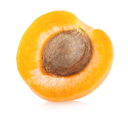 ripe apricot isolated on white background photo
