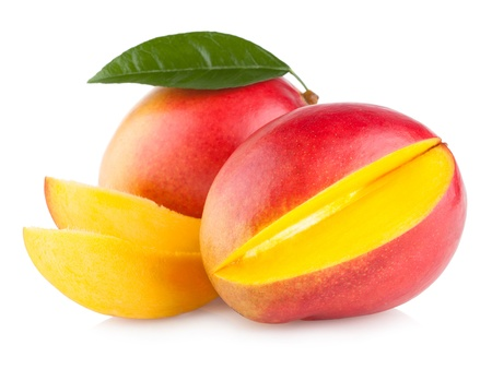 Mango vruchten geïsoleerd op witte achtergrond Stockfoto - 21320934
