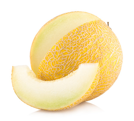 honeydew: ripe melon isolated on white background