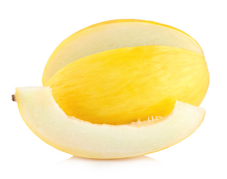honeydew: honeydew melon isolated on white background