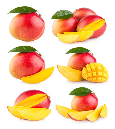 mango fruit: collection of 6 mango images Stock Photo