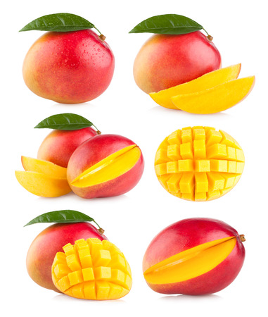 collection of 6 mango images Stock Photo