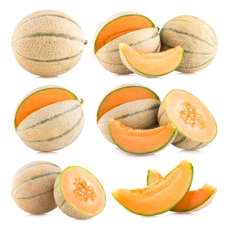 cantaloupe: collection of 6 cantaloupe melon images