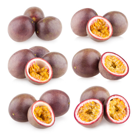 passion fruit: collection of 6 passion fruit images