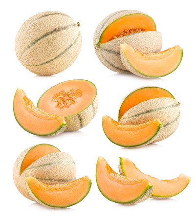 collection of 6 cantaloupe melon images 免版税图像 - 24220062
