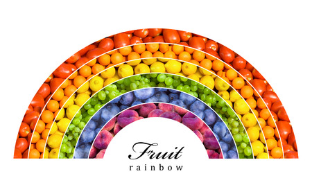fruit and vegetable rainbow - healthy eating concept Standard-Bild