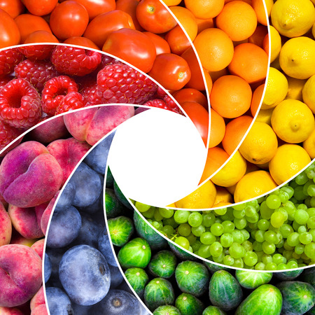 fresh fruits: fruit backgrounds as an aperture shutter - healthy eating concept