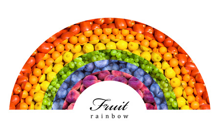 fruit and vegetable rainbow - healthy eating concept photo