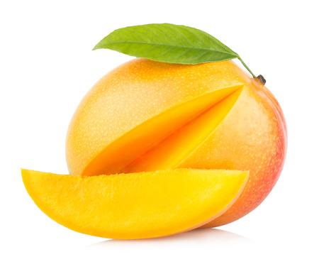 mango leaf: mango fruit isolated on white background