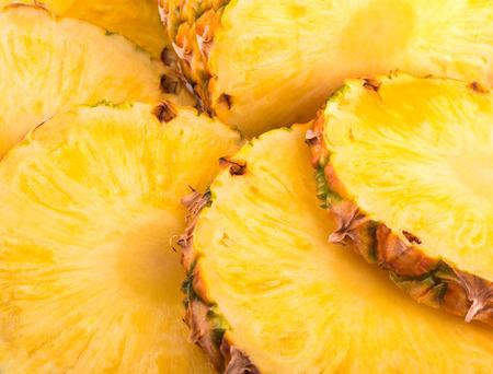 パイナップルのスライスの背景 写真素材
