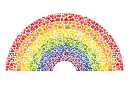 fruit and vegetable rainbow - healthy eating concept Standard-Bild