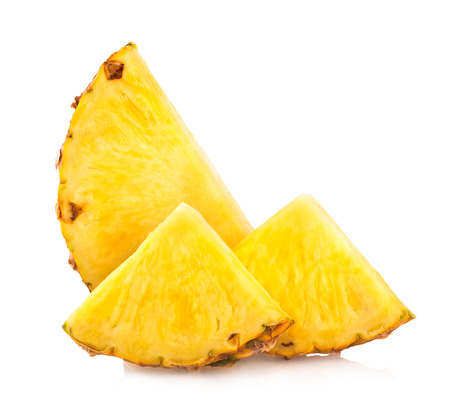 pineapple slices isolated on white Standard-Bild