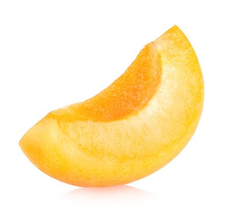 apricot slice isolated on white background  免版税图像