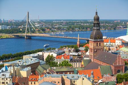 리가, 라트비아의 공중보기 스톡 콘텐츠