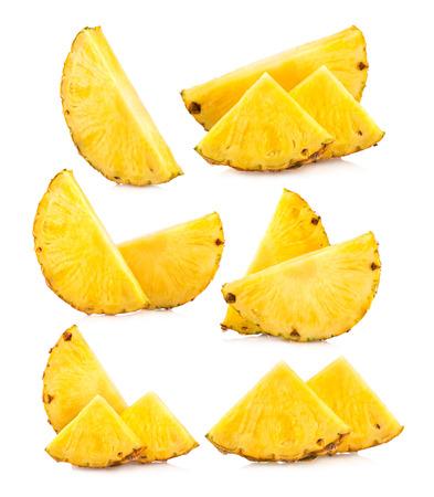 パイナップル スライス画像のセット