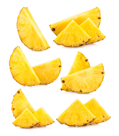 set of pineapple slices images 免版税图像 - 32848119