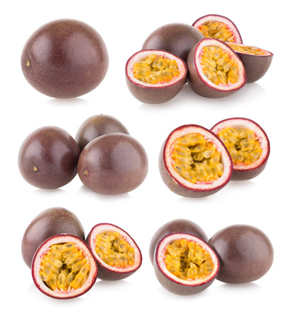 set of 6 passion fruit images