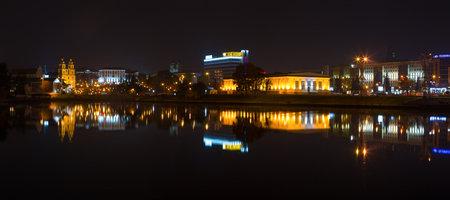 minsk: Minsk, Belarus - October, 2014: Center of Minsk at night