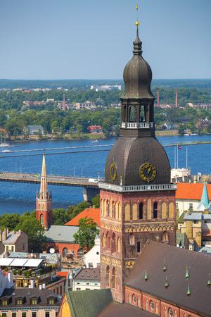 Aerial view of Riga, Latvia Standard-Bild