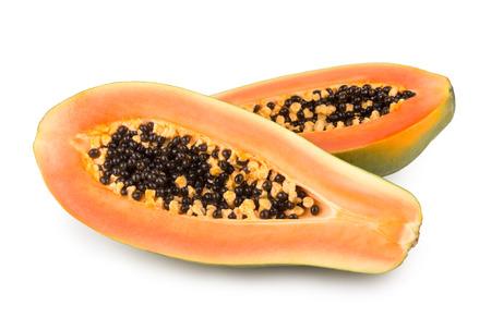 papaya: ripe papaya isolated on white background