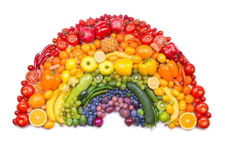 fresh vegetable: fruit and vegetable rainbow