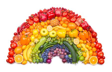 regenbogen: groenten en fruit regenboog