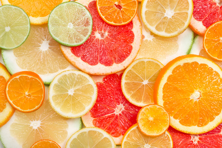 background of citrus slices