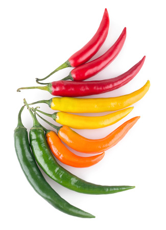 chili: colorful chili peppers