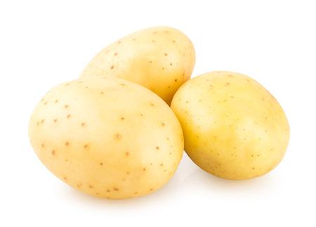 흰색 배경에 고립 된 신선한 감자 스톡 콘텐츠