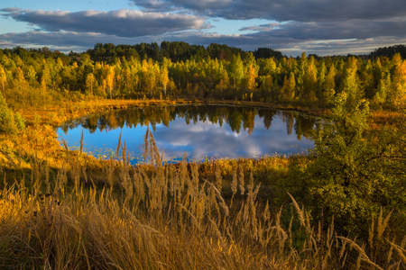 braslav: Evening in Braslau lakes national park, Belarus
