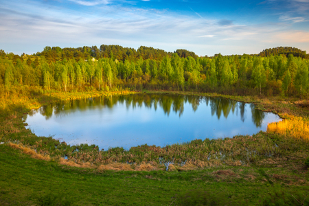 braslav: Gods Eye lake in Braslau lakes national park, Belarus