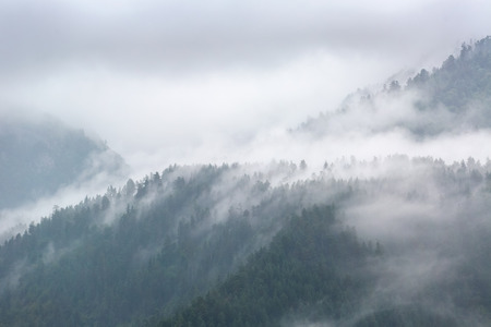 cloudy day: Cloudy day in mountains