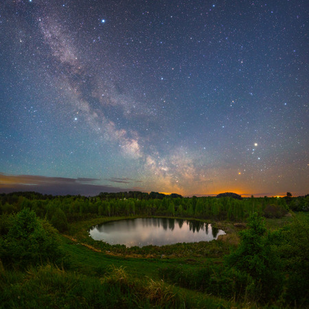 braslav: Bational park Braslau lakes (Belarus) at night