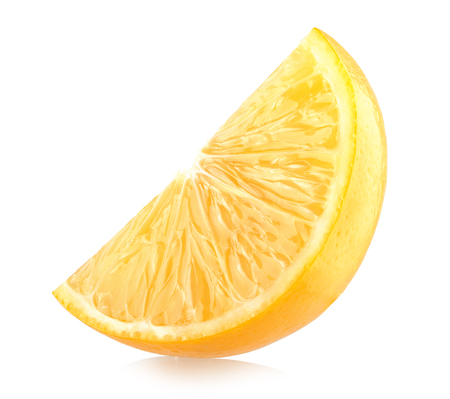 lemon slice: Fresh lemon slice isolated on white background
