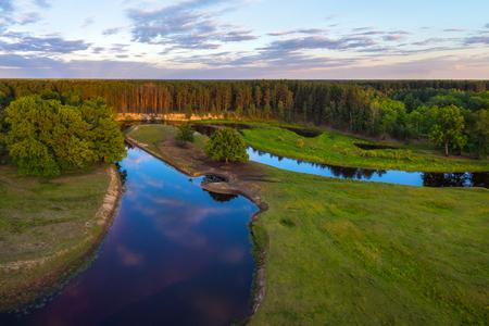 floodplain: Floodplain of belarusian river Ubarc (Ubort) Stock Photo