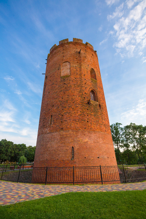 Ancient tower in Kamyanets (UNESCO World Heritage Tentative List) Stock Photo