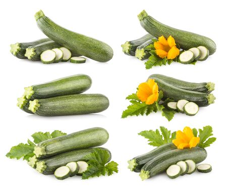 Set of 6 zucchini images