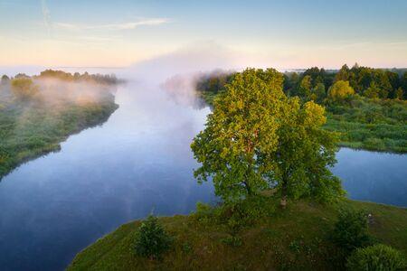 Confluence of the Nioman and Zakhodniaja Biarezina rivers, Belarus