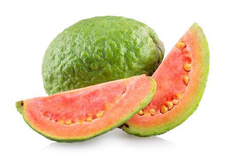 Guava fruits isolated on white background Archivio Fotografico