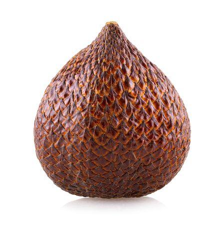 Salak (Salacca zalacca) or Snake fruit isolated on white background