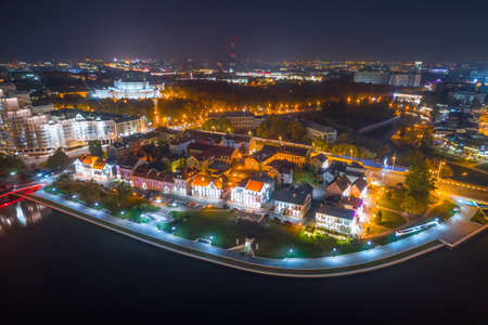 Aerial view of Traetskae Suburb - old center of Minsk