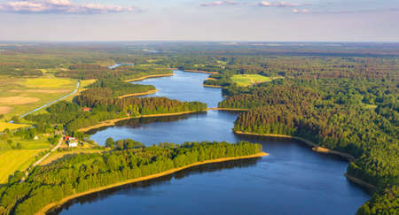 Sarachany Lakes natural reserve (Belarus) from the bird's eye view