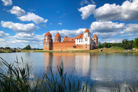 Castle in Mir (Belarus) - one of the most famous castles in Belarus Editorial