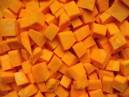 fresh yellow pumpkin photo
