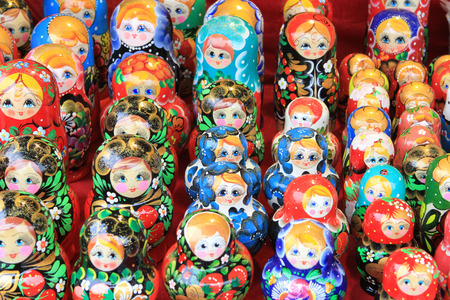 matroshka: the images show a wide variety of dolls(dolls)different shapes and colors