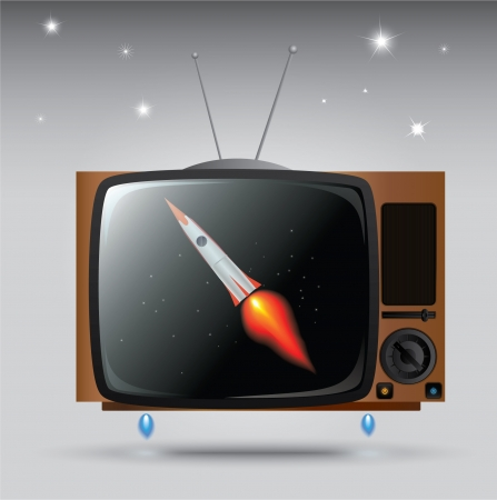 Old TV wants to fly like a rocket  eps 10