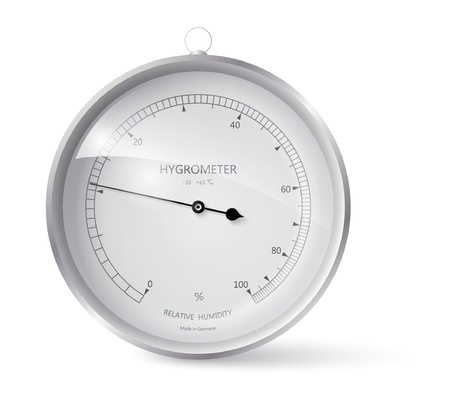 hygrometer: Metal framed hygrometer eps 10 Illustration