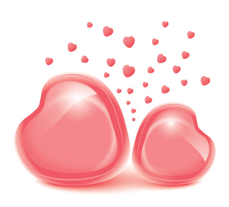 Love heart  Valentines day Frames for photos You can insert a photos into the layers  Vector eps 10 Vector