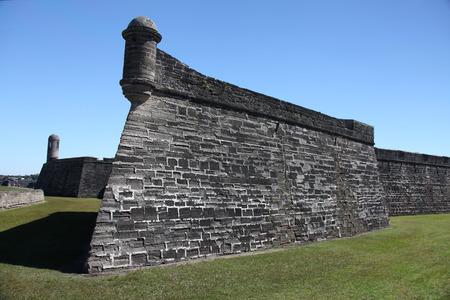 marcos: National monument Castillo de San Marcos in st Augustine