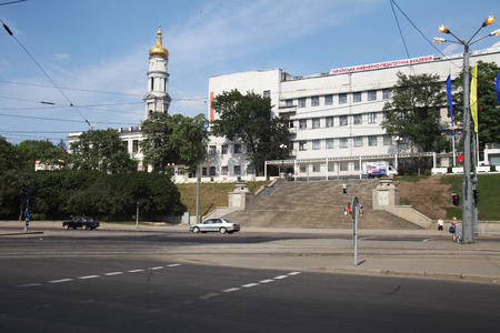 view on central square in Kharkov city Stock Photo - 34686119